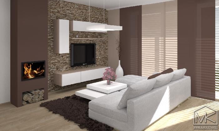 moderní obývák v rodinném domě