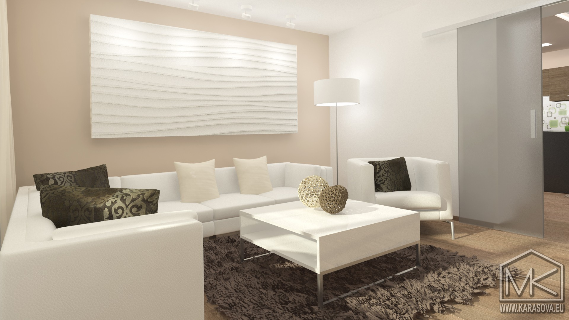moderní obývací pokoj - relaxační část